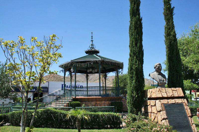 Plaza Juarez in Magdalena de Kino, Sonora
