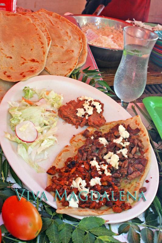 Enjoy a tasty chalupa in Magdalena de Kino